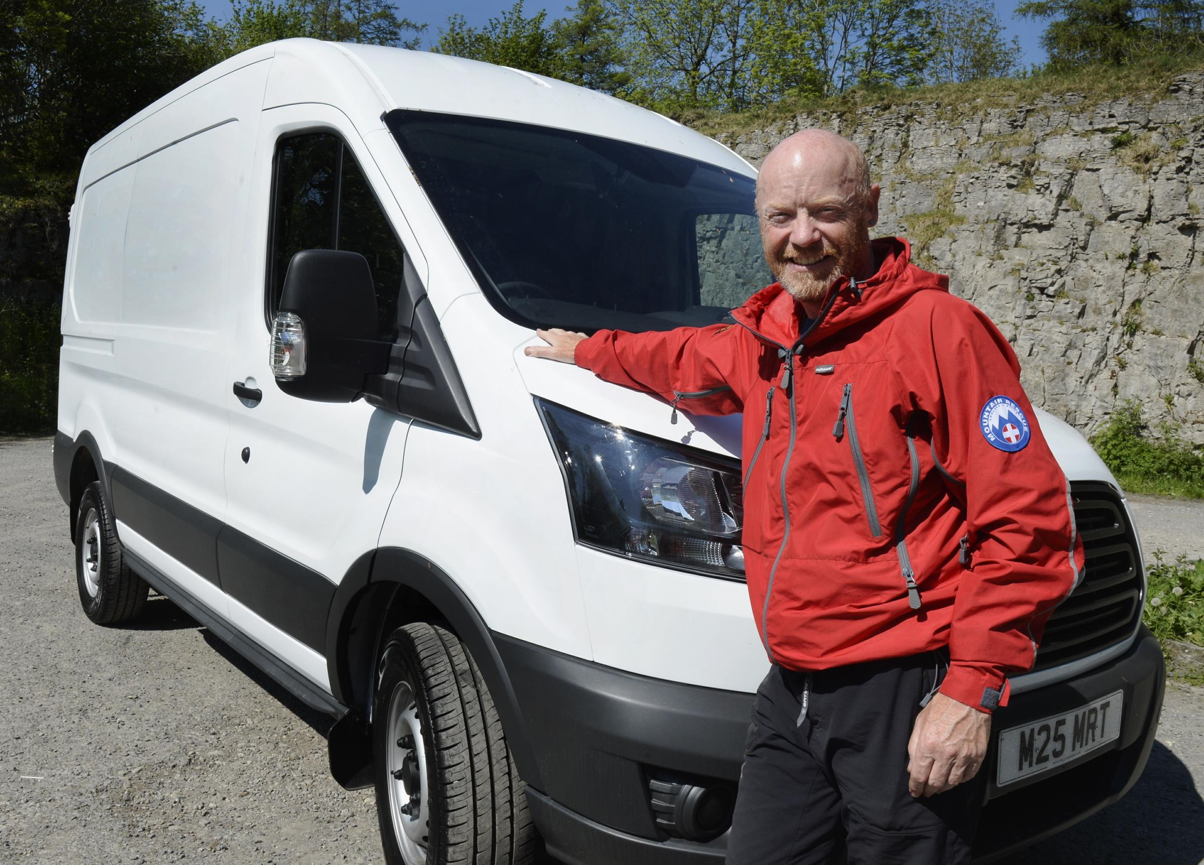 Kendal Mountain Rescue team leader Dave Howarth with the new vehicle funded by Westmorland Gazette readers...22/05/2018..JON GRANGER.