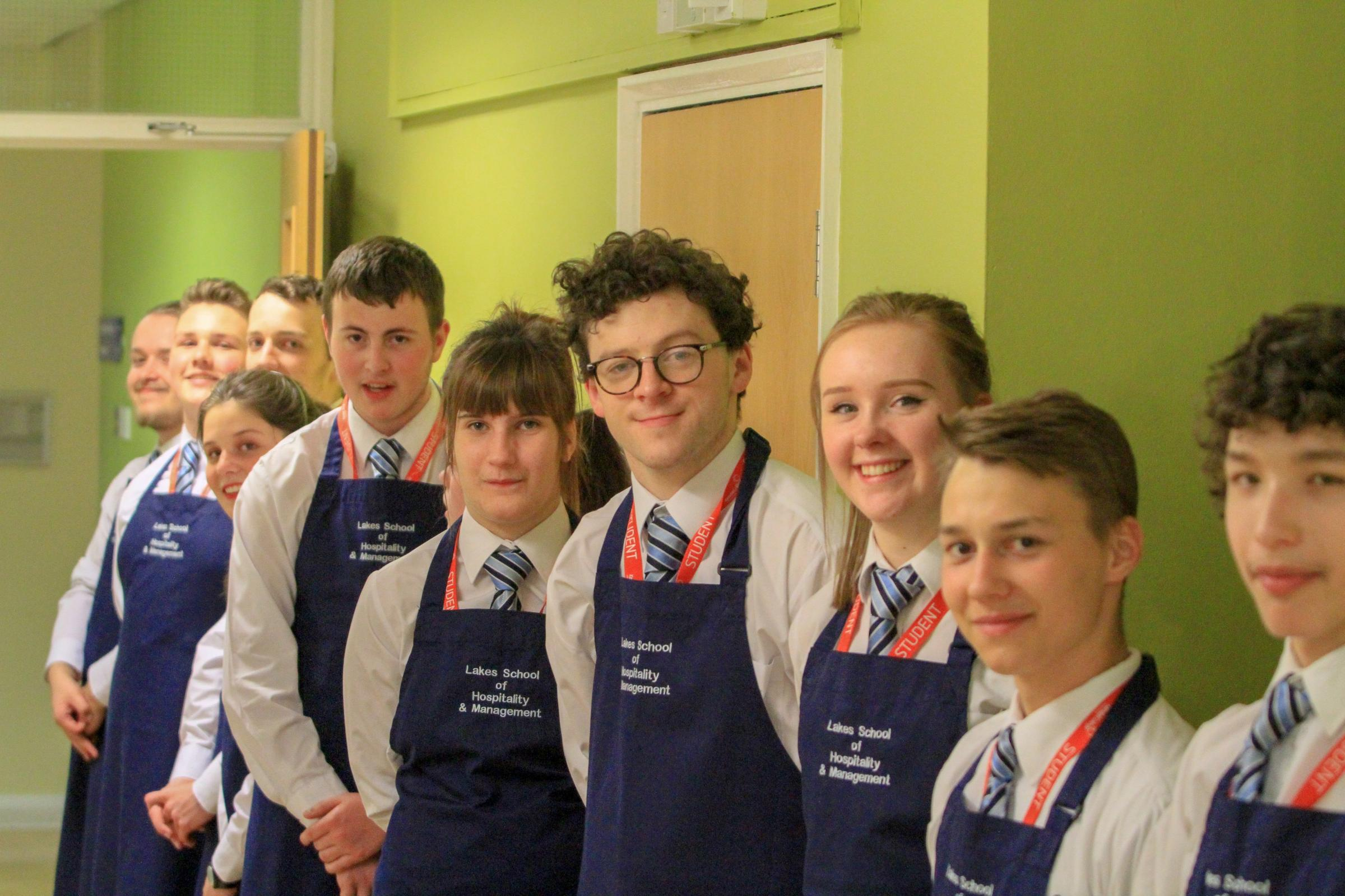 Students from Kendal College Leisure and Hospitality Front of House Team