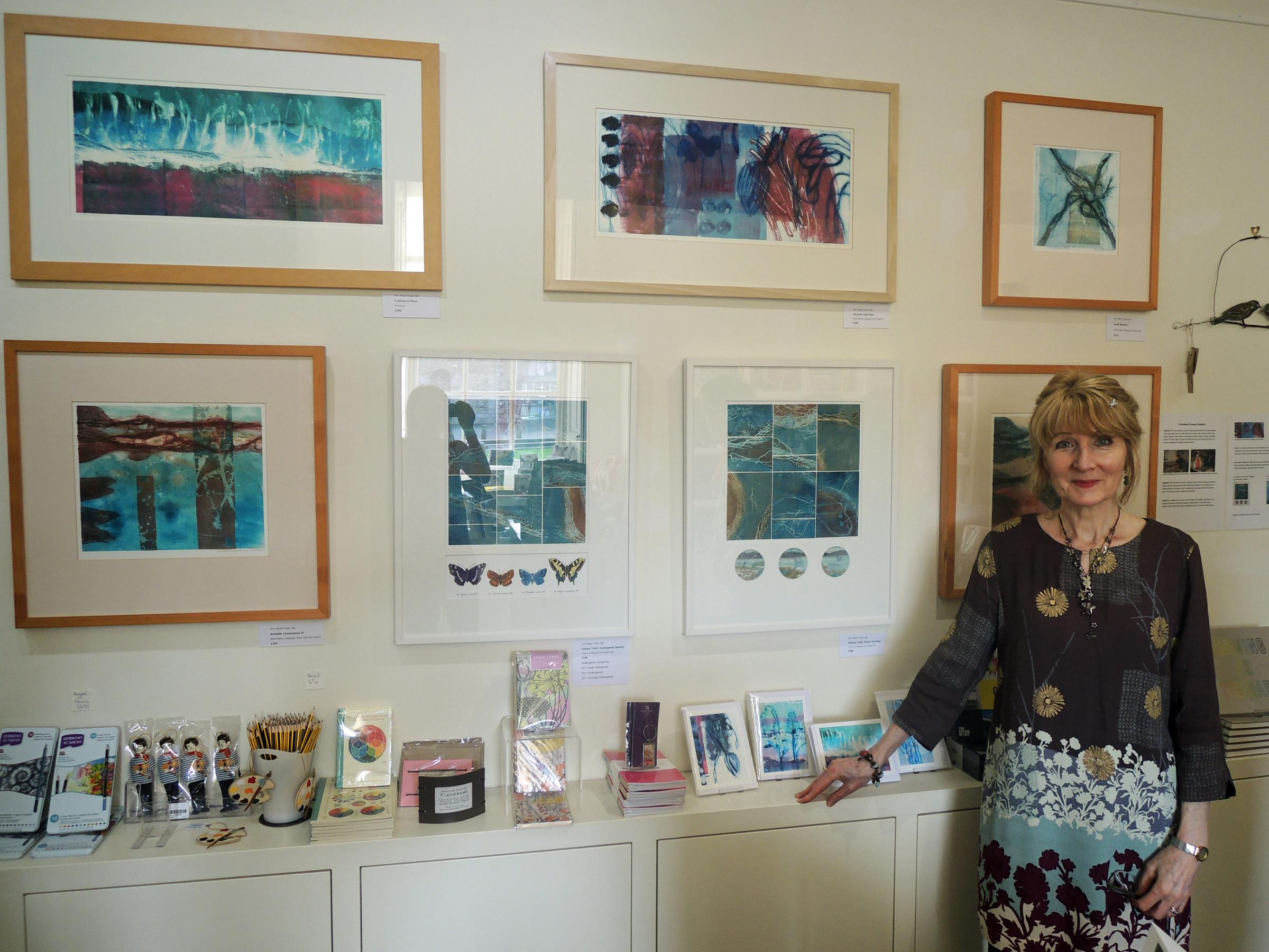 Ann Marie Foster said she was delighted to be asked to exhibit her artwork in the shop at Abbot Hall to coincide with the Kendal gallery's celebration of female artists from the Royal Academy