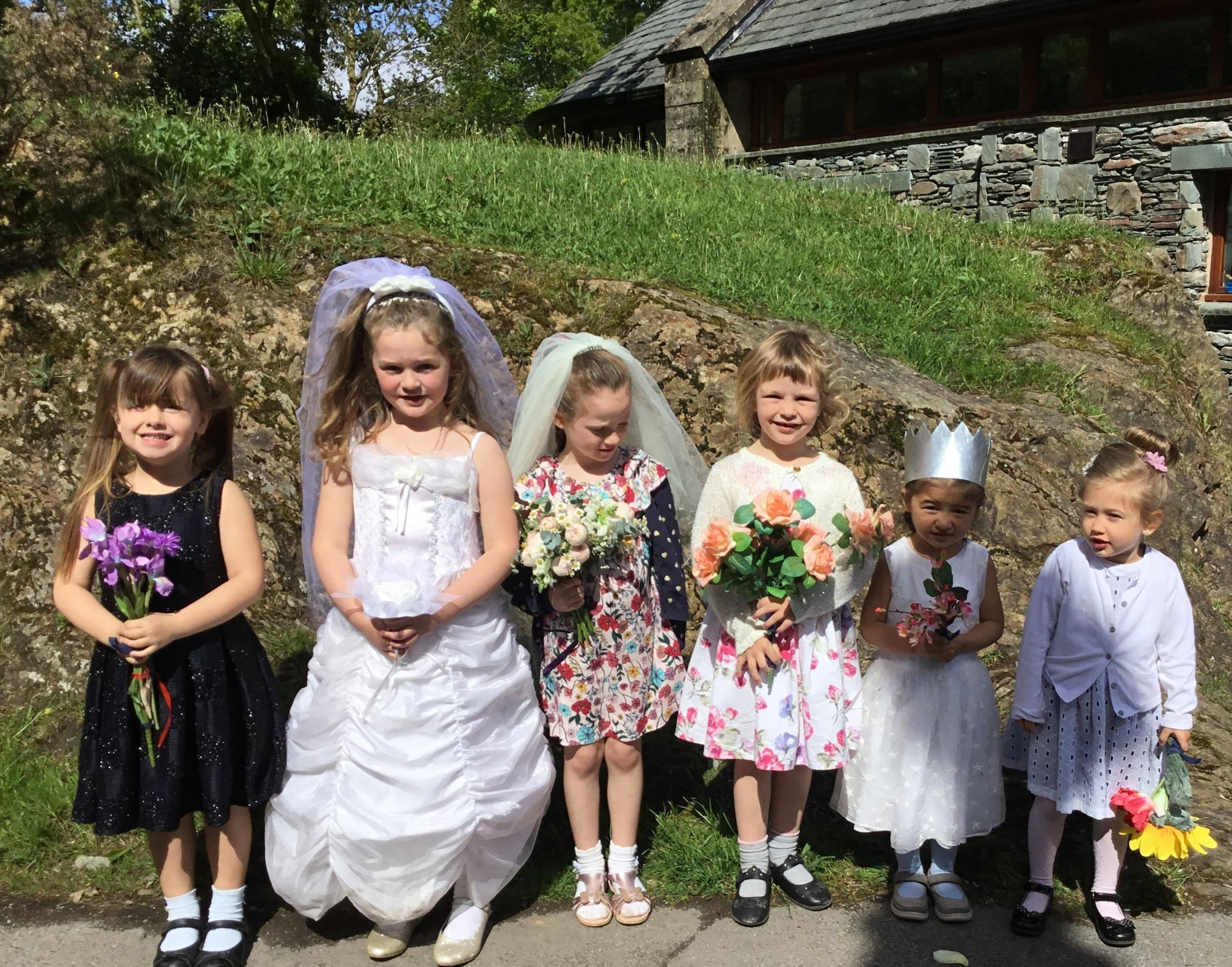 Youngsters at Ambleside CE Primary School staged their own Royal wedding celebrations