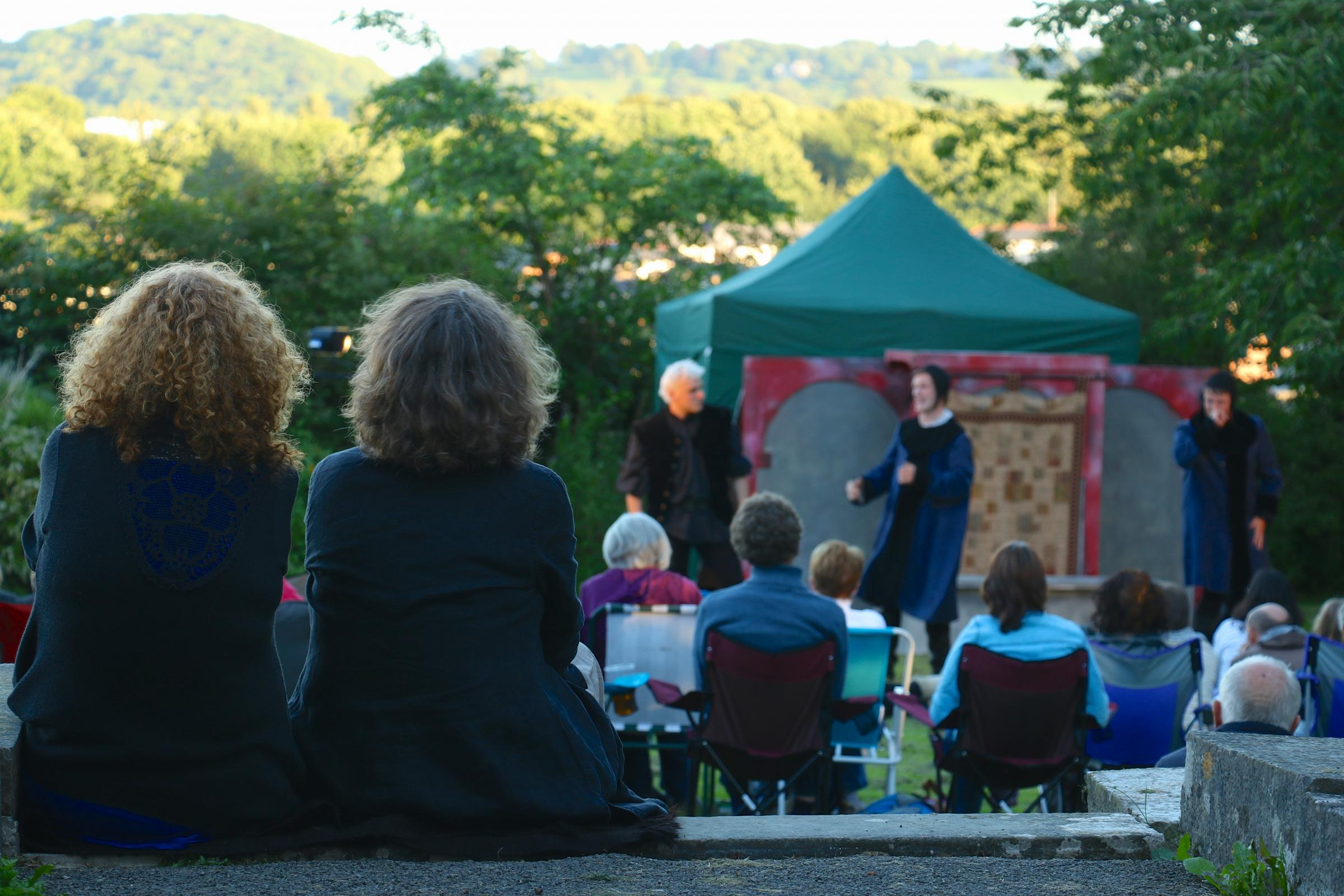 Open-air performance of Shakespeare's The Winter's Tale