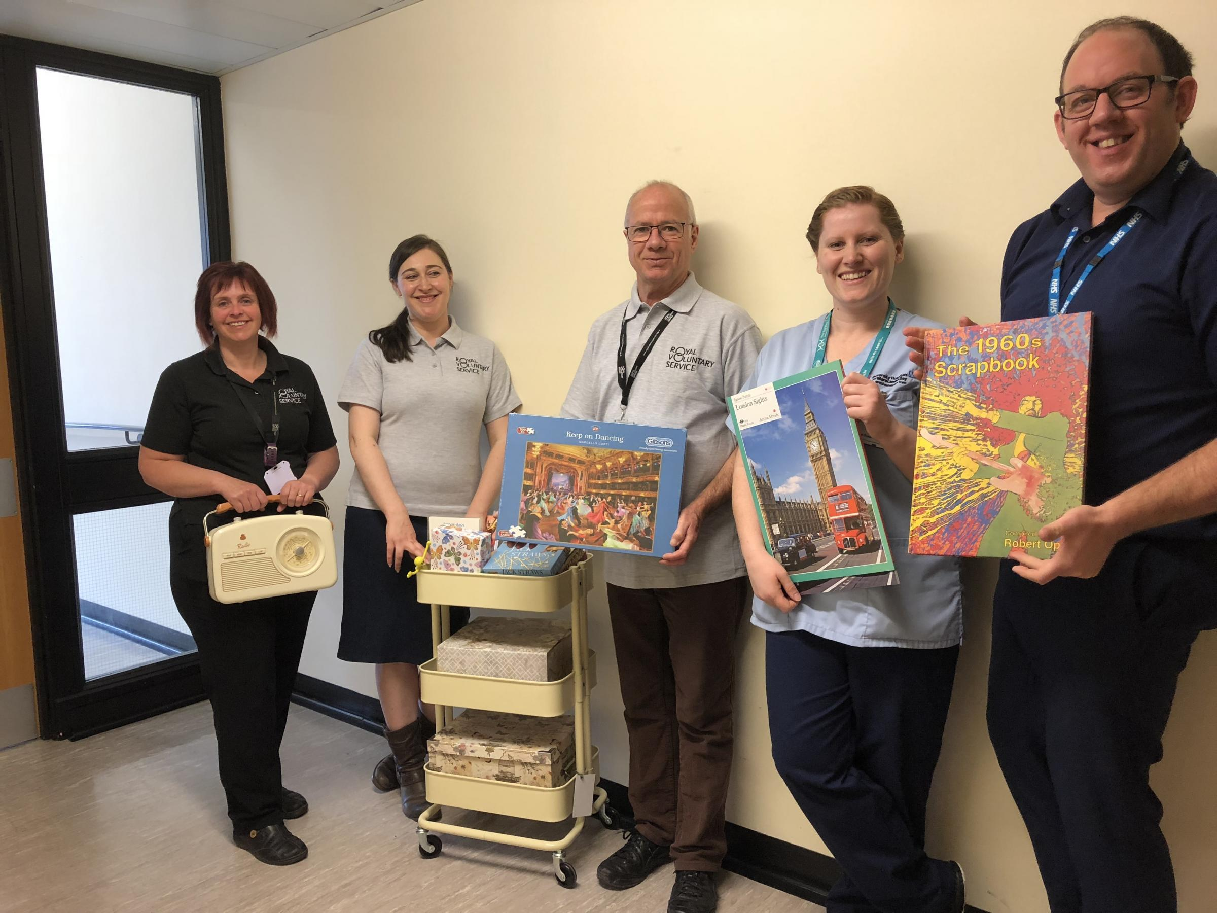 Volunteers from the Royal Voluntary Service (RVS) have donated £500 of gifts to help dementia patients at Westmorland General Hospital, Kendal, relieve boredom and isolation.
