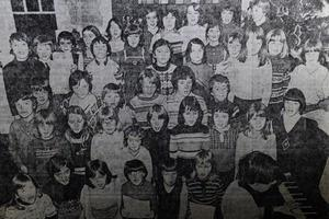 TODAY'S PHOTO FROM THE GAZETTE ARCHIVES: Endmoor pupils at a sponsored carol singing event in 1978