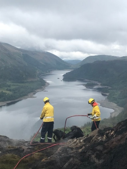 Firefighters at Raven Crag, photo by Brian Steadman