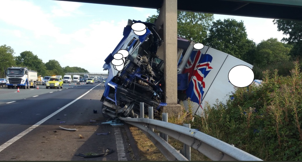 M6 shut in both directions after lorry hits bridge