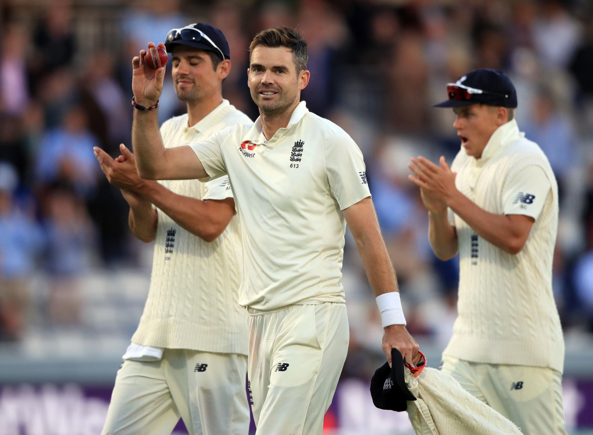 England's James Anderson celebrates his five wicket haul  during day two of the Specsavers Second Test match at Lord's, London. PRESS ASSOCIATION Photo. Picture date: Friday August 10, 2018. See PA story CRICKET England. Photo cred