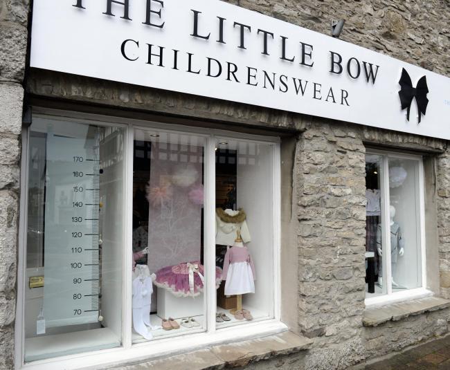The Little Bow childrenswear shop run by Emily Wallace in Kendal...13/08/2018..JON GRANGER.