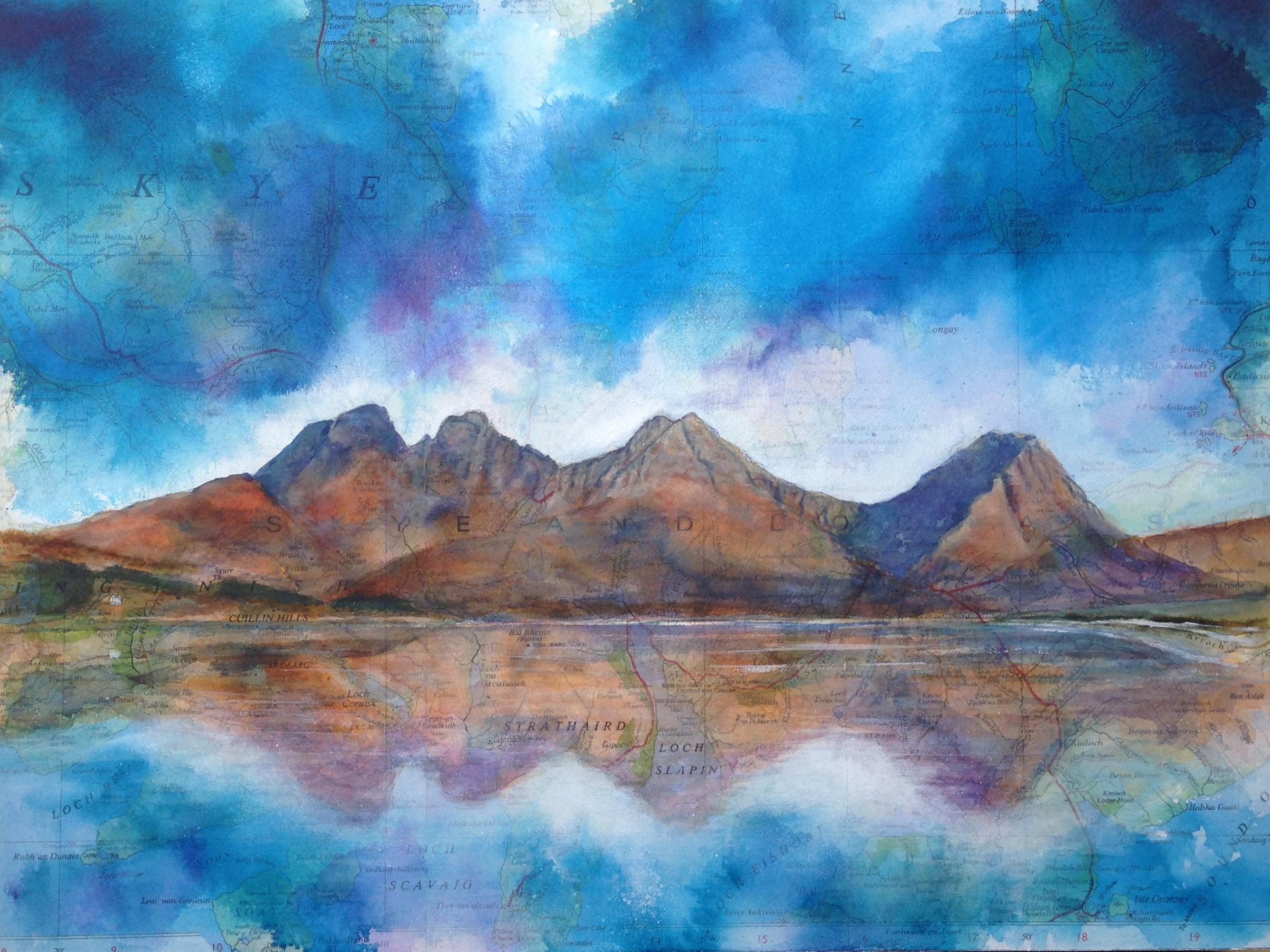 Blaven, Isle of Skye, by artist Jenny Mclaren, who will be exhibiting her artwork at the Kendal Mountain Literature Festival