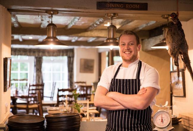 Gordon Stewart, new head chef at Wild Boar Inn