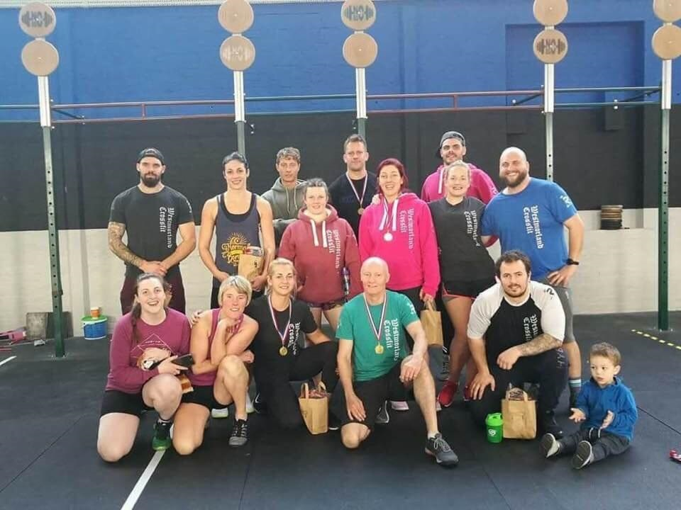 The Kendal Crossfit team which picked up first and second places