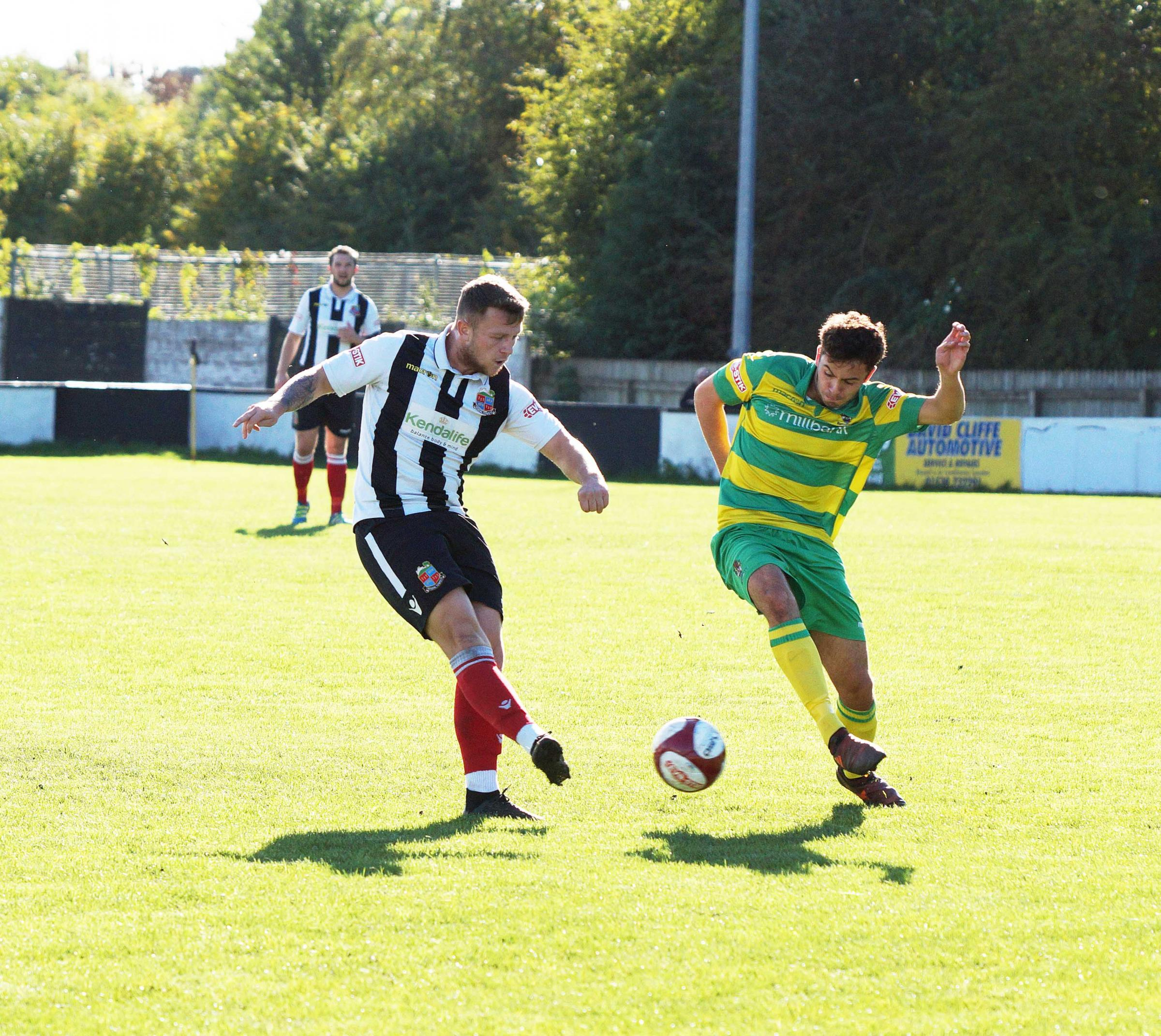 Sam Staunton Turner in action for Kendal Town