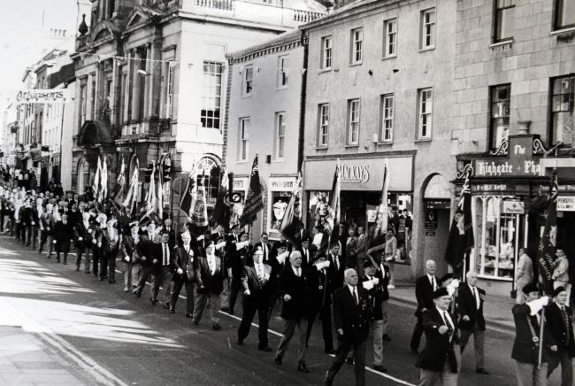 Kendal's Remembrance Parade in 1990