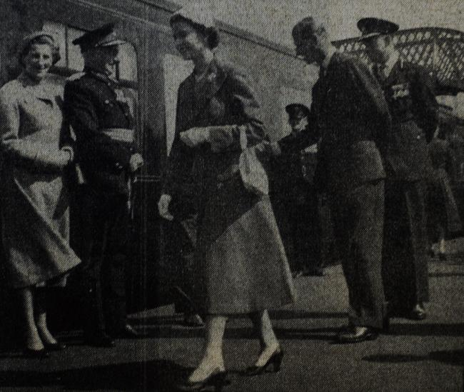 The Queen and the Duke of Edinburgh at Arnside in August 1956