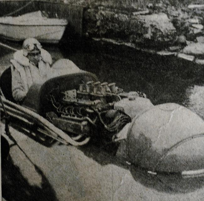 Norman Buckley of Windermere in one of the earlier 'Miss Windermere' speedboats