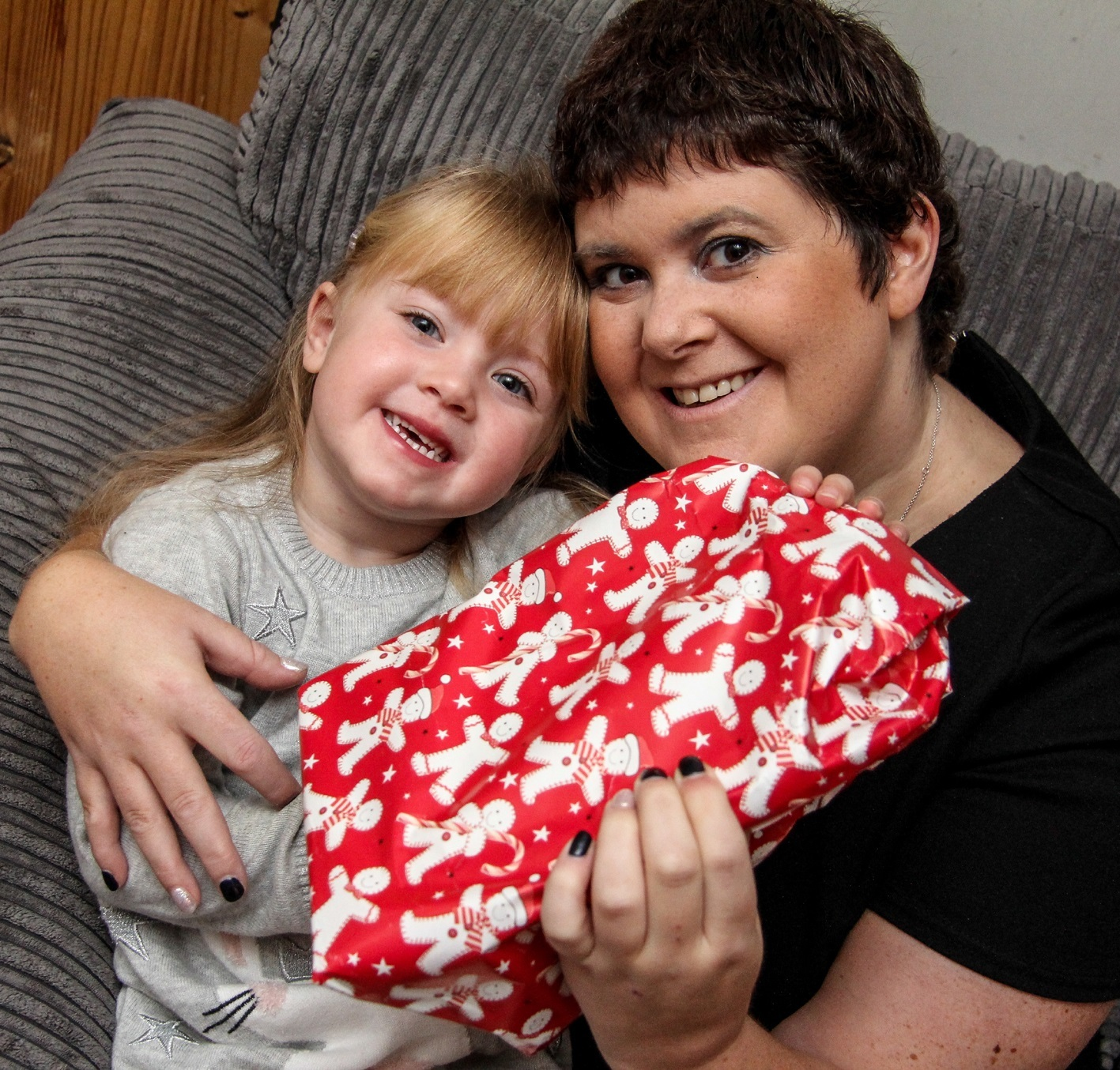 Stacy Woodhouse with her daughter Harper-Mae