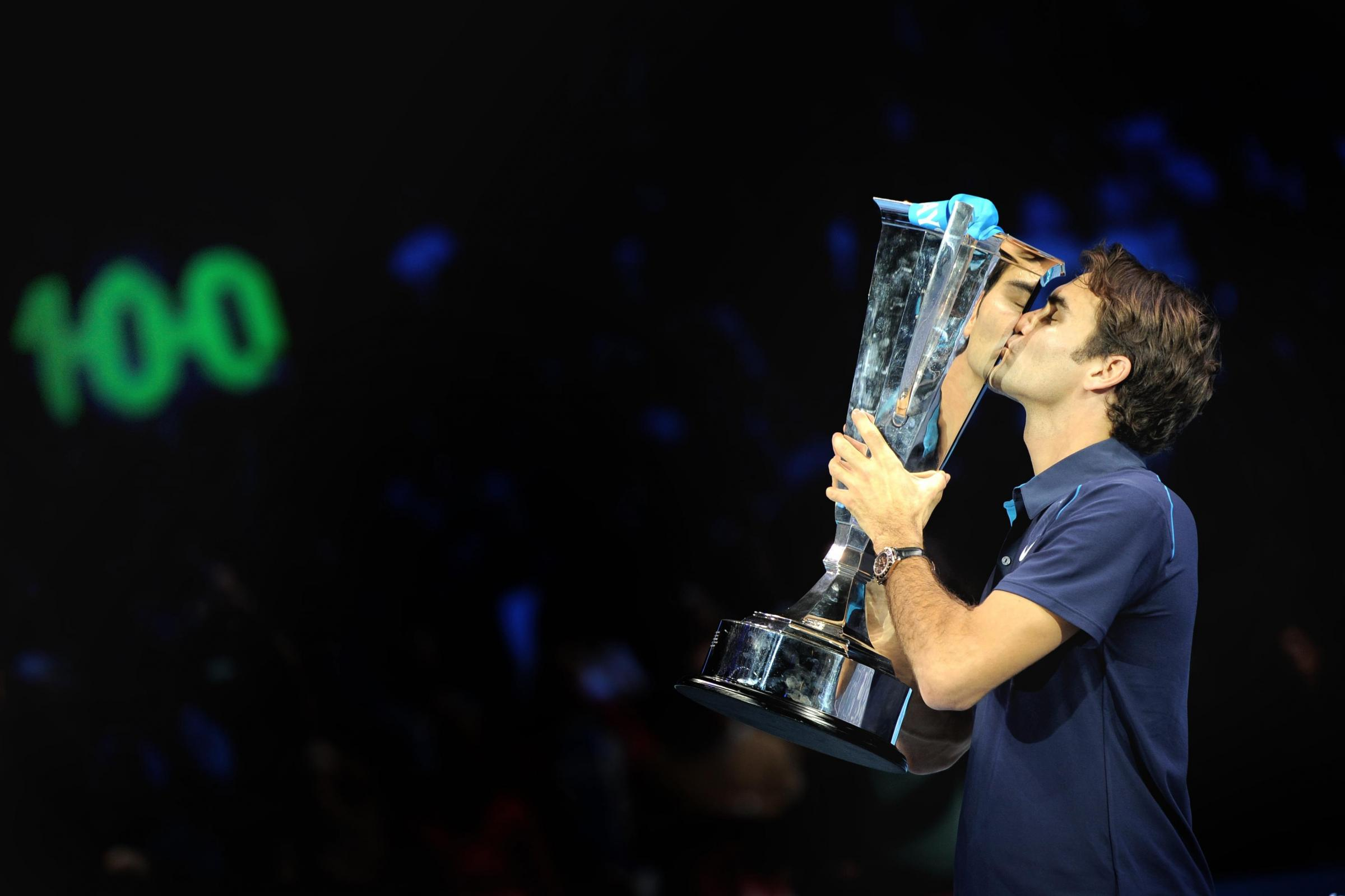 Roger Federer is bidding for his 100th singles title at the ATP Tour Finals in London