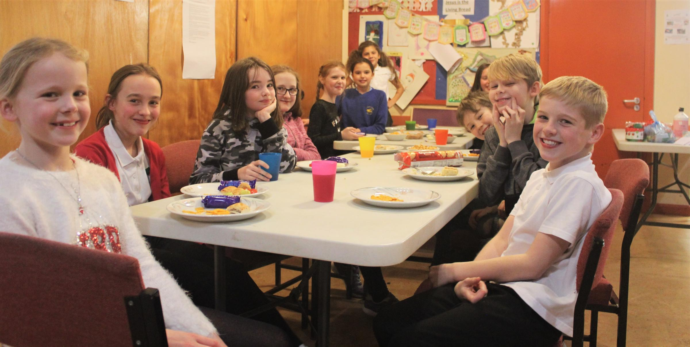 Big smiles all round at the young carers support group