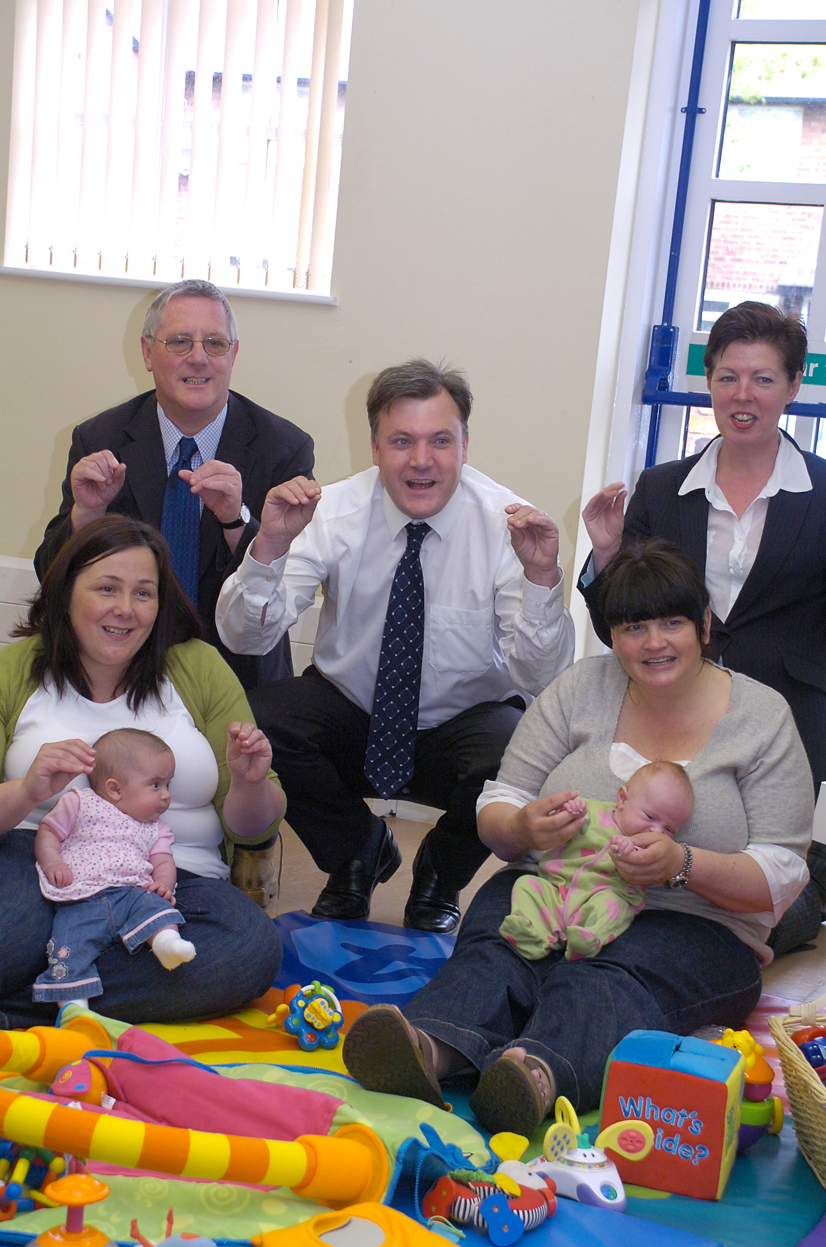 Teresa Griffin (back right) pictured with Shadow Chancellor, Ed Balls