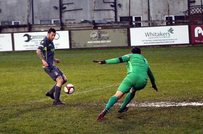 Brad Carroll scores for Kendal