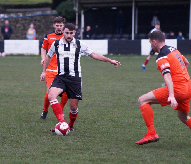 Action from Kendal Town v Mossley