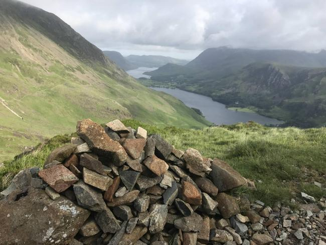 Looking down at Buttermere and Crummock Water from Haystacks. By Dick Divers from Carlisle..