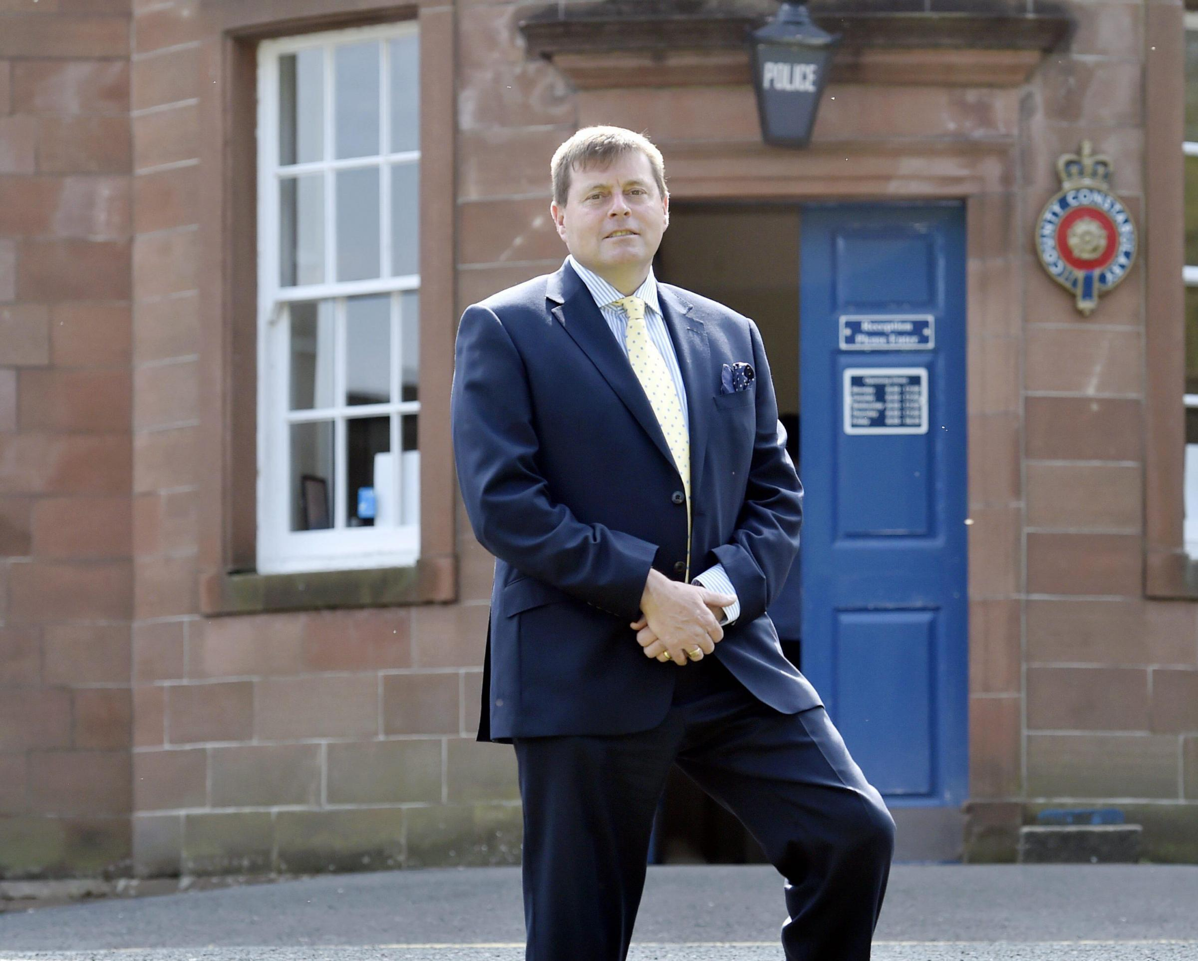 The new Police Crime Commissioner for Cumbria Peter McCall at the police headquarters in Penrith on his first day in office. THURSDAY 12th MAY 2016. DAVID HOLLINS 50084255F006.jpg.