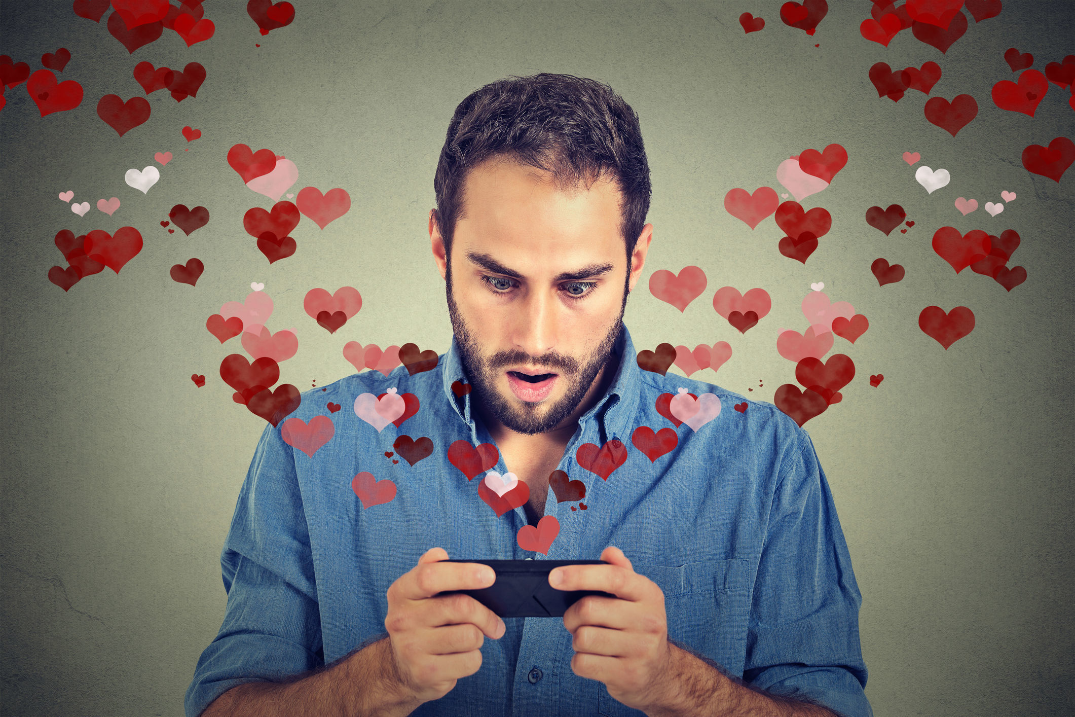 A generic photo of a man online dating. See PA Feature FINANCE Romance Scams. Picture credit should read:Thinkstock/PA. WARNING: This picture must only be used to accompany PA Feature FINANCE Romance Scams..