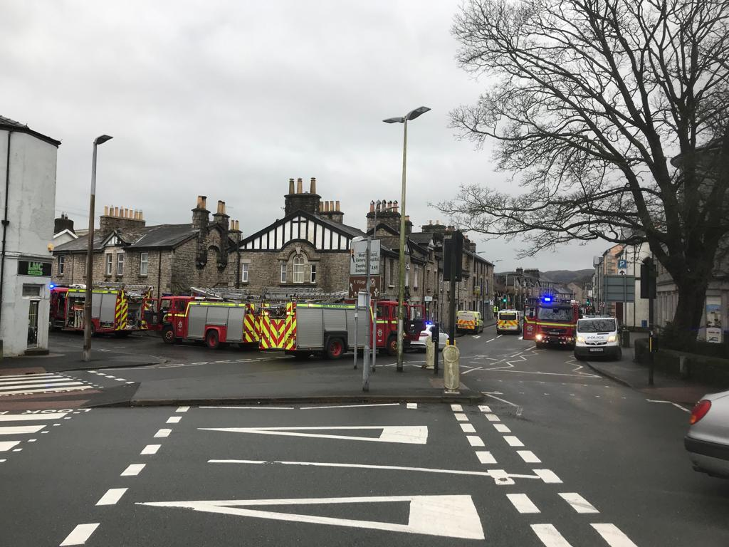 Police and fire engines attend incident in the K Village area of Kendal