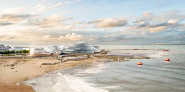 An artist's impression of how the Eden Project for the North at Morecambe could look