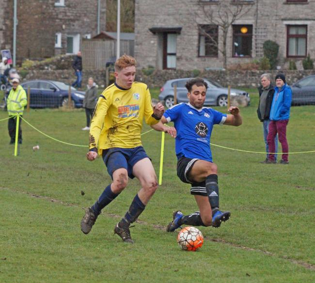 Action from Kendal United's Benevolent Trophy Semi Final game with Ibis