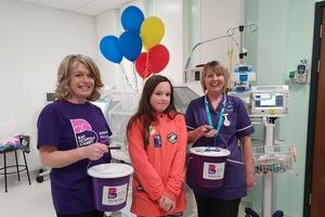 Cora scales new heights to thank caring hospital staff