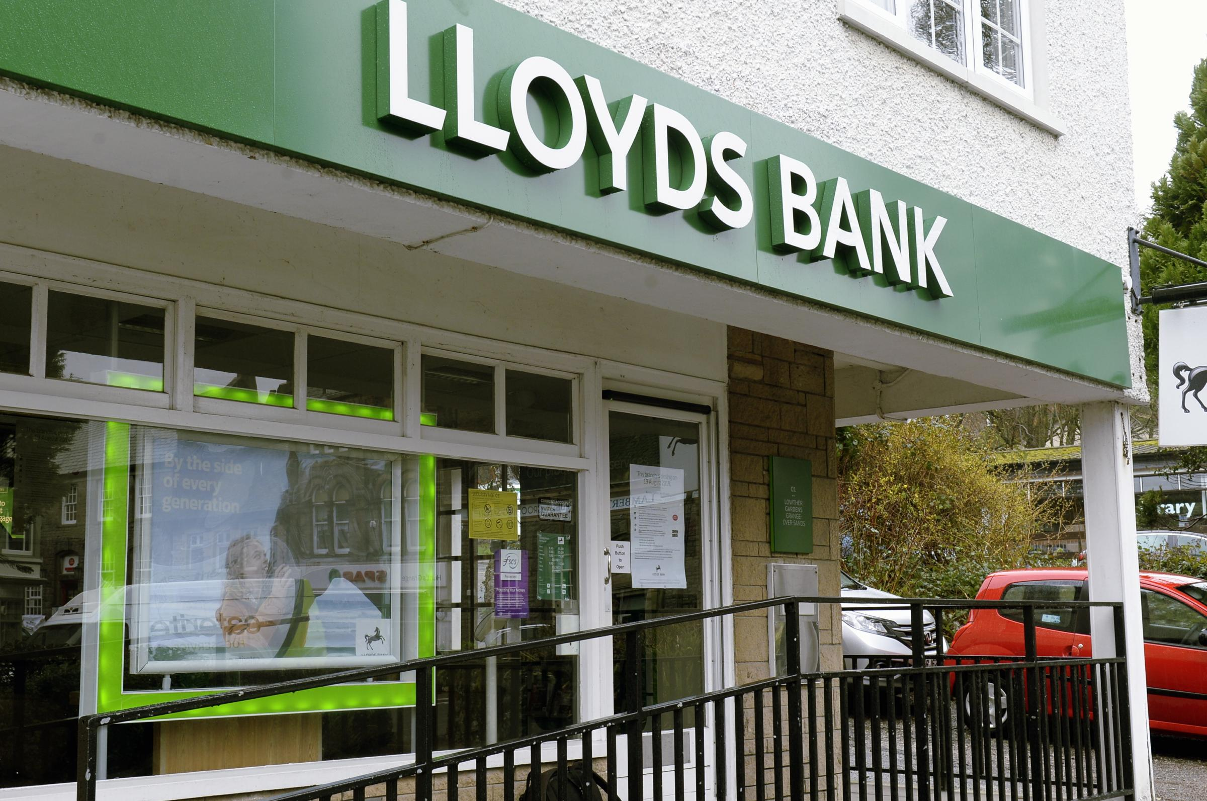 Lloyds Bank in Grange which is closing later this year...05/03/2019..JON GRANGER.