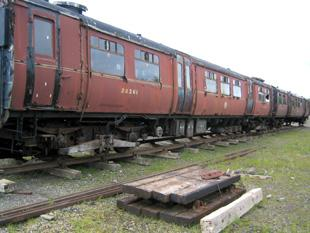 Historic passenger train finds temporary home in Eden