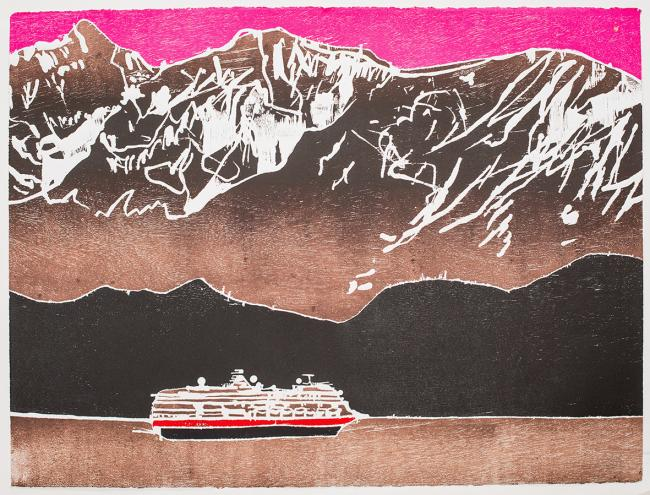 Printmaker of the Year Sadie Tierney's Over the Mountain, one of the images in Printfest 2019, running at the Coronation Hall, on May 4-5. Pic Emily Whiting
