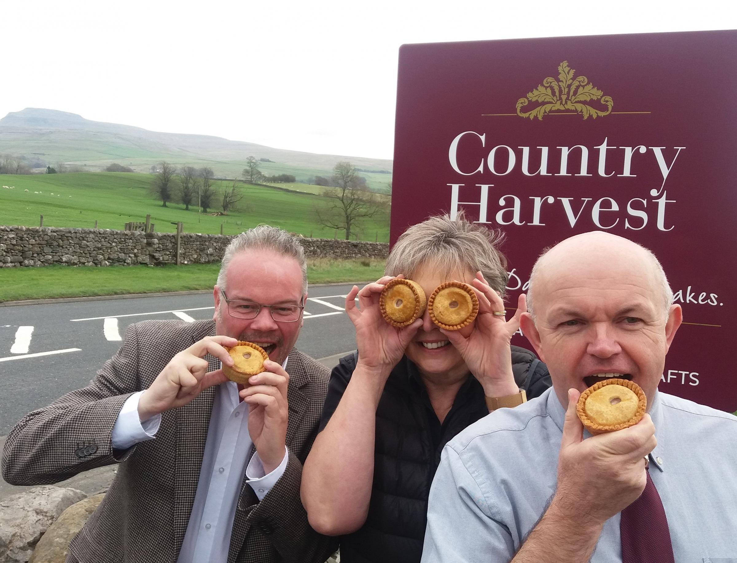 All eyes on the pies at Ingleton's Country Harvest