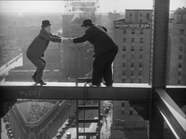 A still from the Laurel and Hardy Liberty film which will be screened during the Royalty Cinema special film night