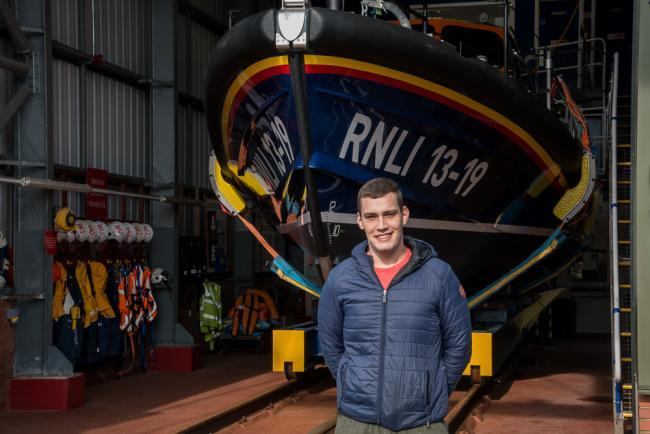 Aaron Briggs, a volunteer with Workington RNLI, rescued a jet skier who had got into difficulty