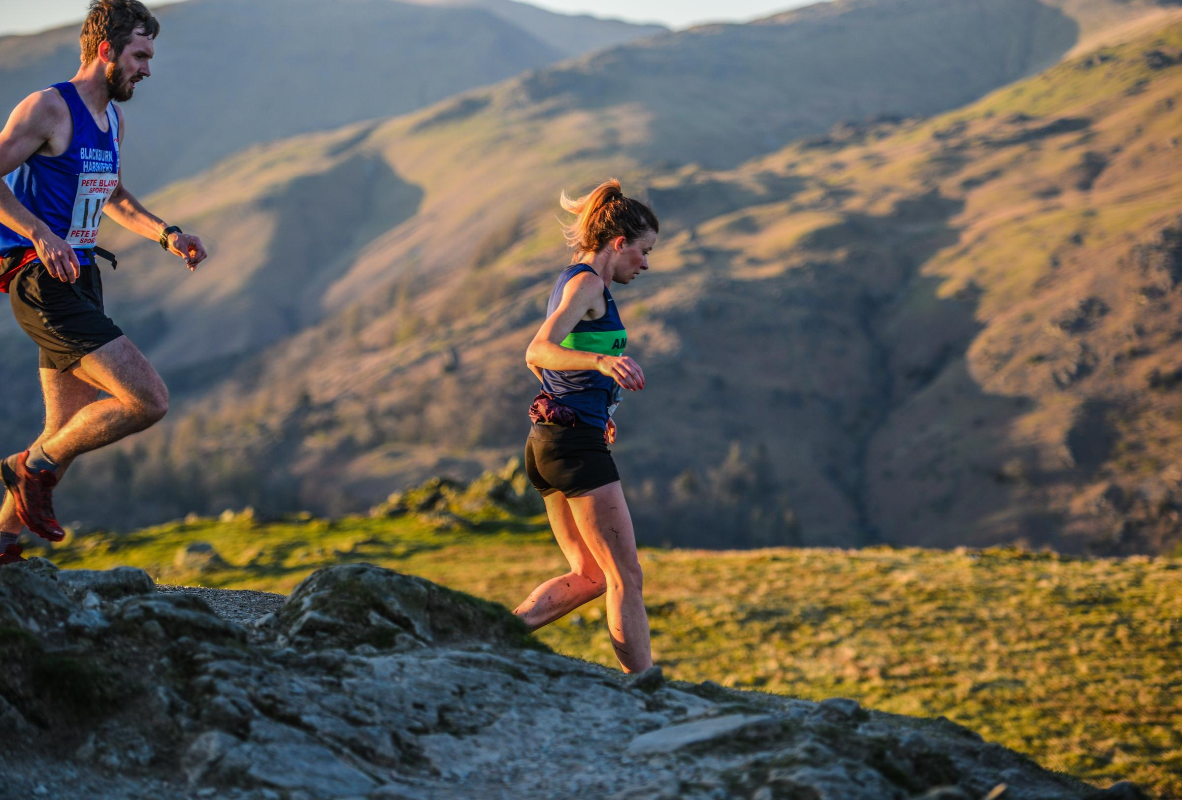 Sarah McCormack winning Loughrigg Fell race for a third time in a row. Photo: Stephen Wilson