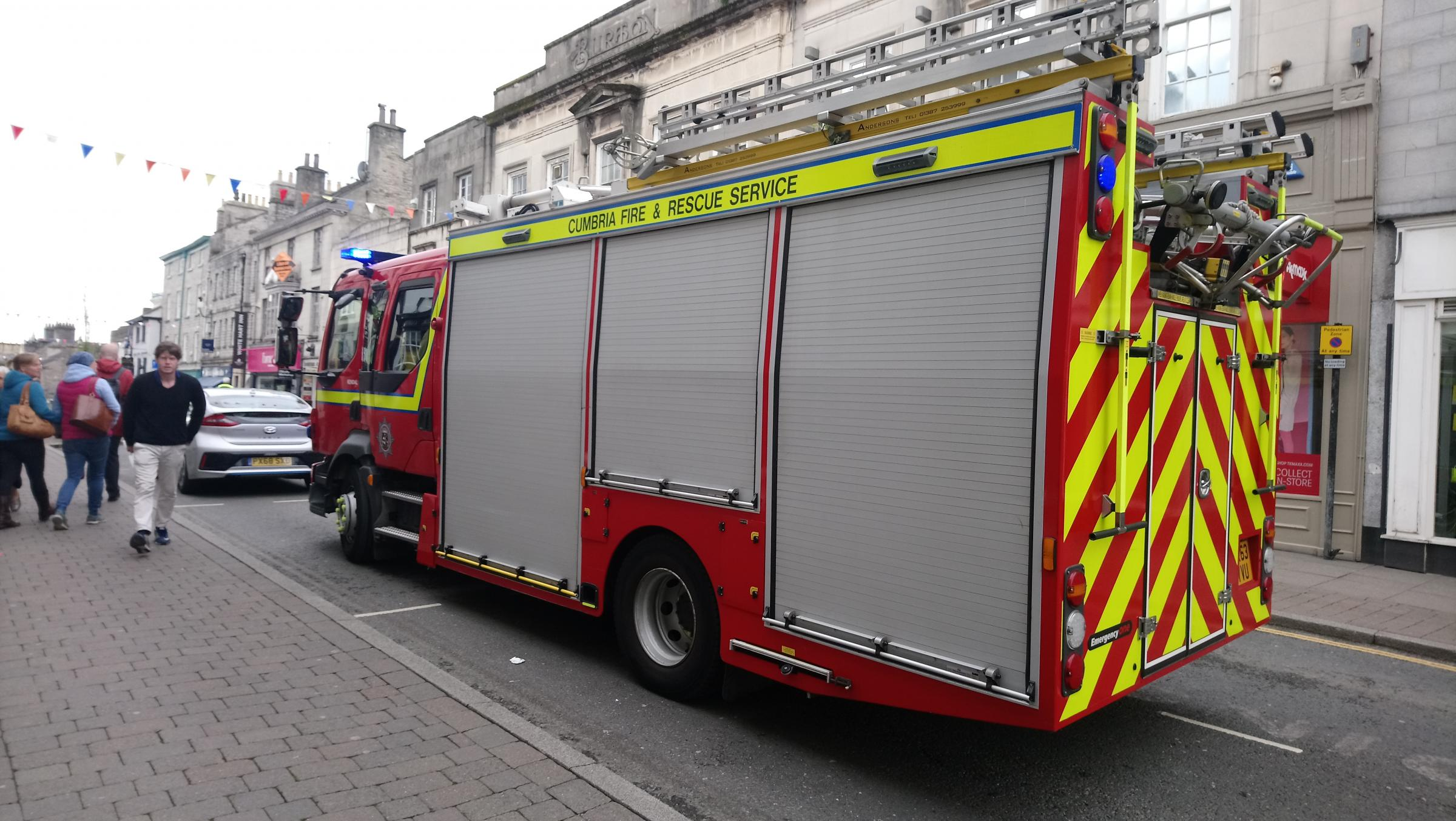 Fire crew called out to Stricklandgate in Kendal