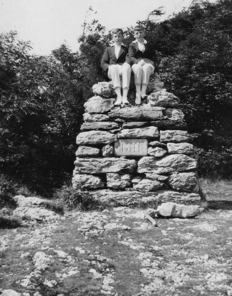The photograph of the cairn