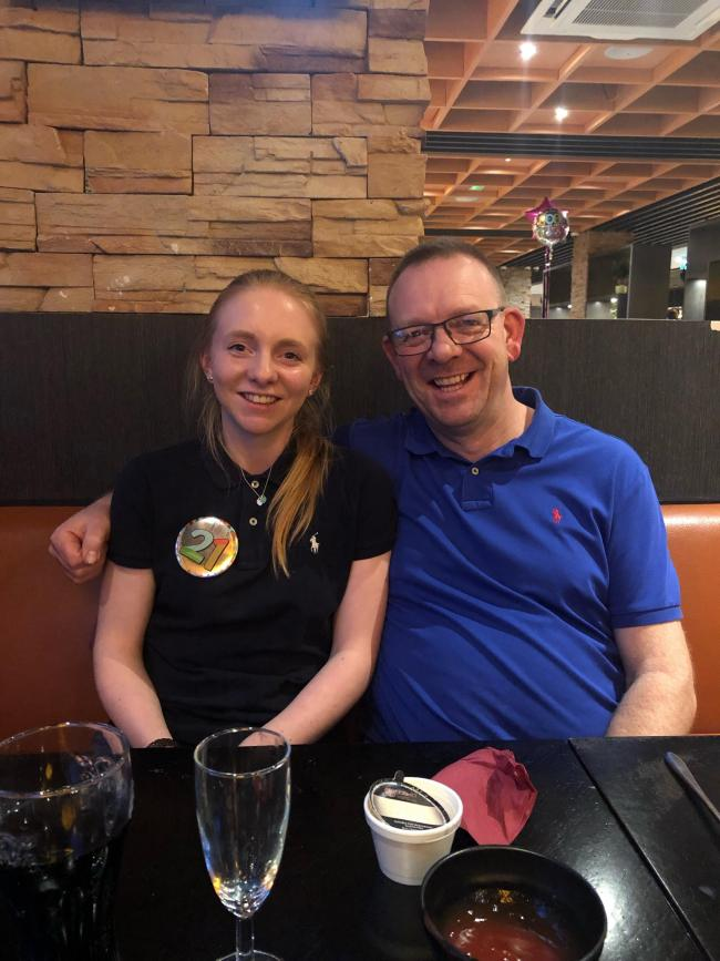 Lauren Burgess and her dad Simon who completed what may be a unique cricketing feat in a Westmorland League fixture on Saturday
