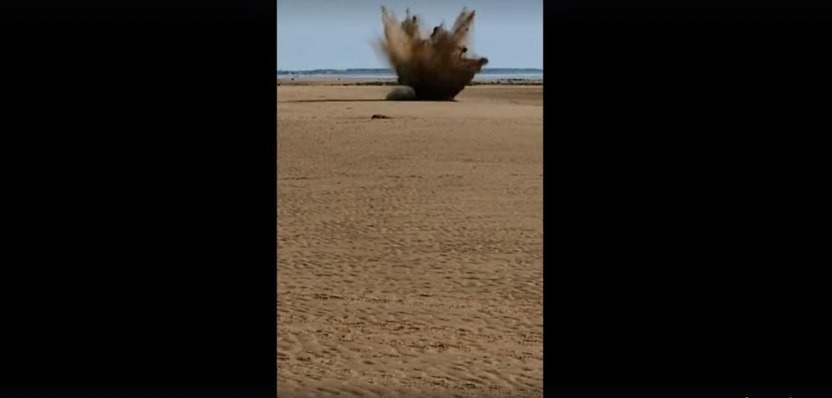 The item was blown up by an Army bomb disposal team