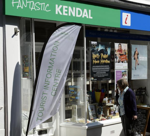 The Westmorland Gazette: 'Fantastic Kendal', the tourist information centre which opened on Finkle Street last year. Picture: JON GRANGER