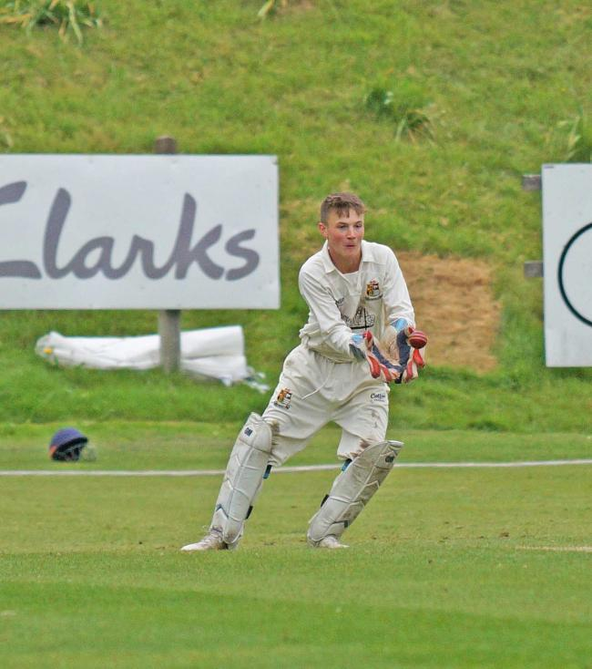 Finley Richardson keeping wicket on Saturday