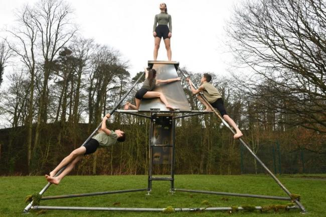 Cumbria Youth Dance Company and Wired Aerial Theatre team up to stage Topos on May 26/27 on the shores of Coniston Water at Brantwood