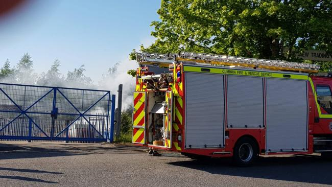 Firefighters at Kendal industrial estate