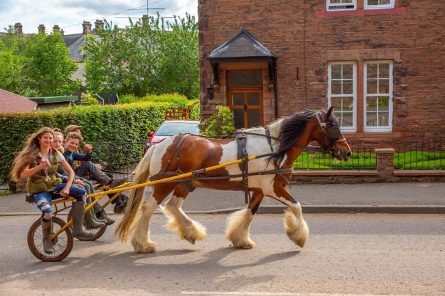 A horse-drawn buggy on The Sands at Appleby Horse Fair (Picture: Brendan McGee)