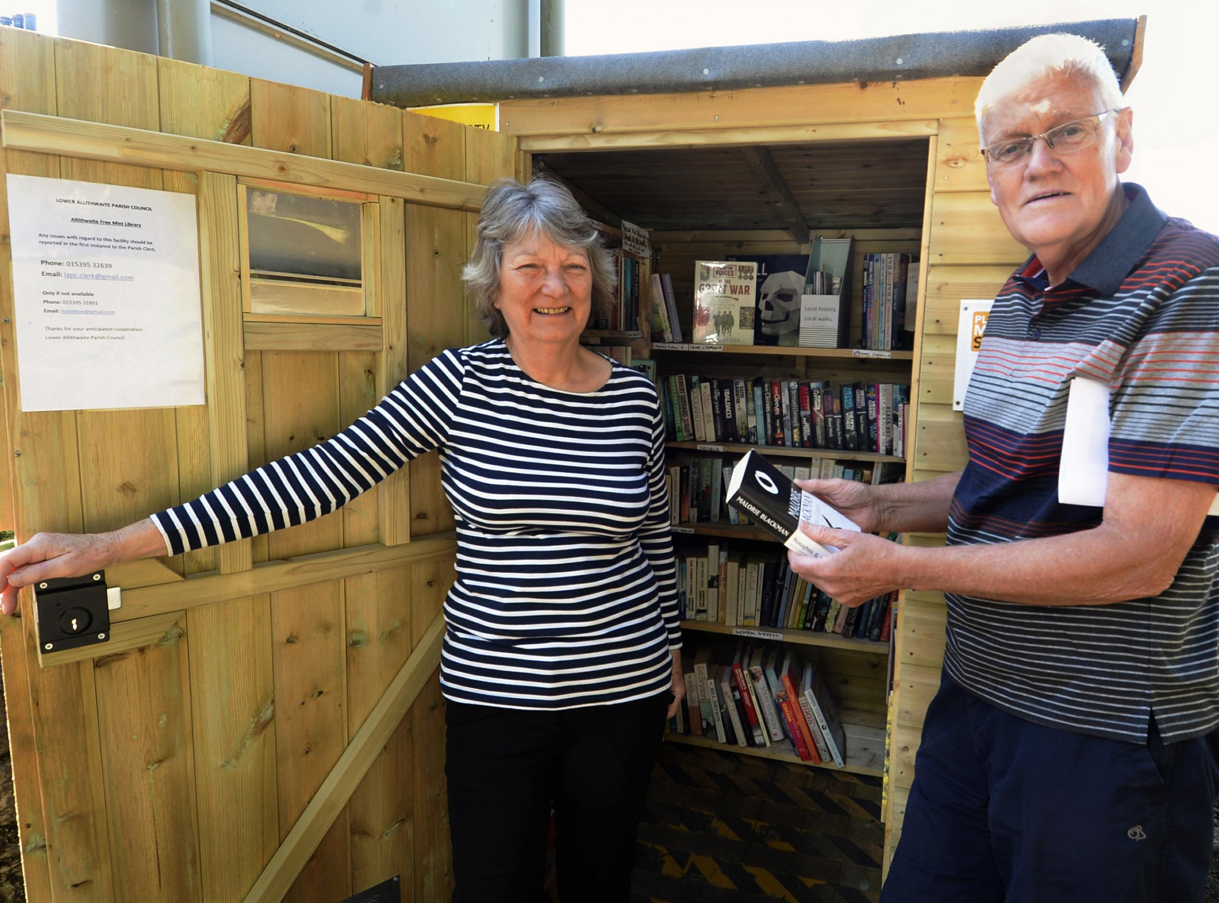 South Lakes shed turned into library